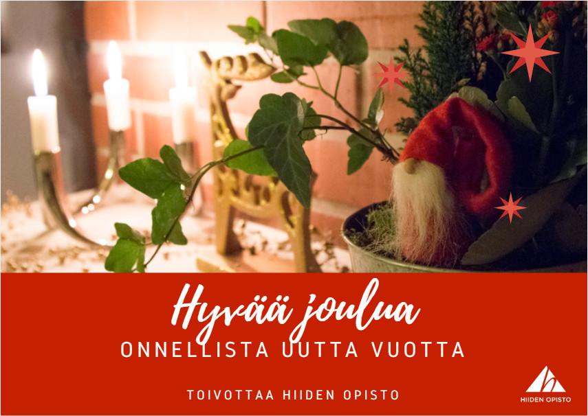Hyvää joulua toivottaa Hiiden Opisto